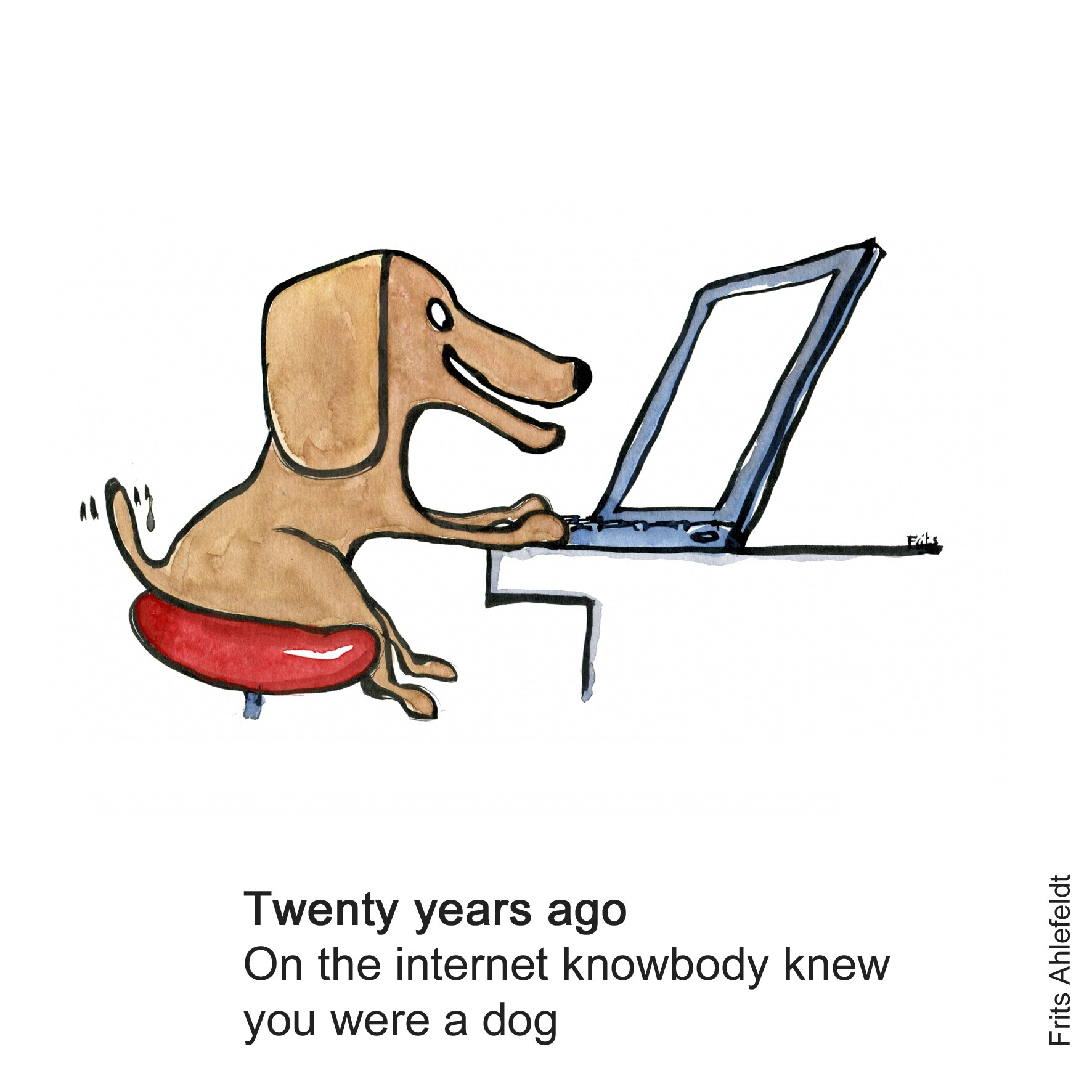 1772x1772 Nobody Knows You Are A Dog On The Internet Drawing By Frits