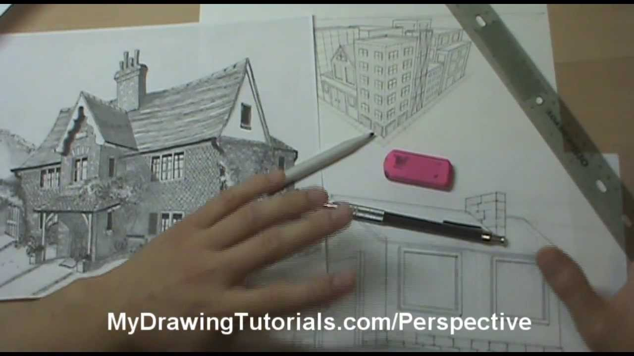 1280x720 Linear Perspective Drawing Lesson 16