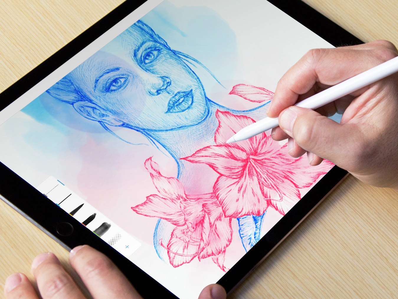 1349x1012 The 5 Best Apps For Sketching On An Ipad Pro Photoshop Sketch