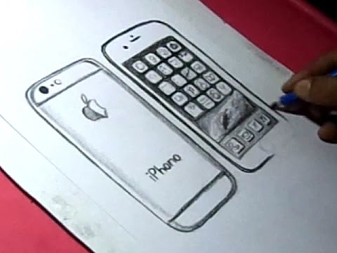 480x360 How To Draw Apple Iphone 6 Drawing For Kids