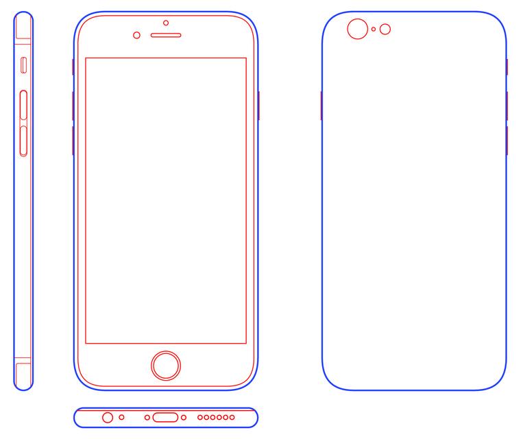 760x640 Iphone 6 3d Cad Model Library Grabcad