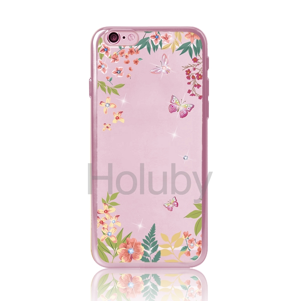 1000x1000 Dita Colored Drawing Diamond Electroplated Soft Tpu Back Case