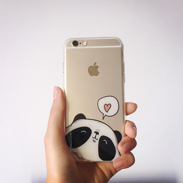 640x640 For Apple Iphone 6s Plus Case 5.5 Inch Cartoon Panda Drawing