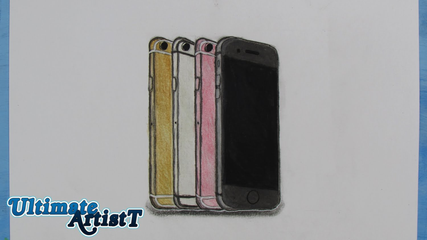 1500x844 Realistic Iphone 6s Poster (Speed Drawing)