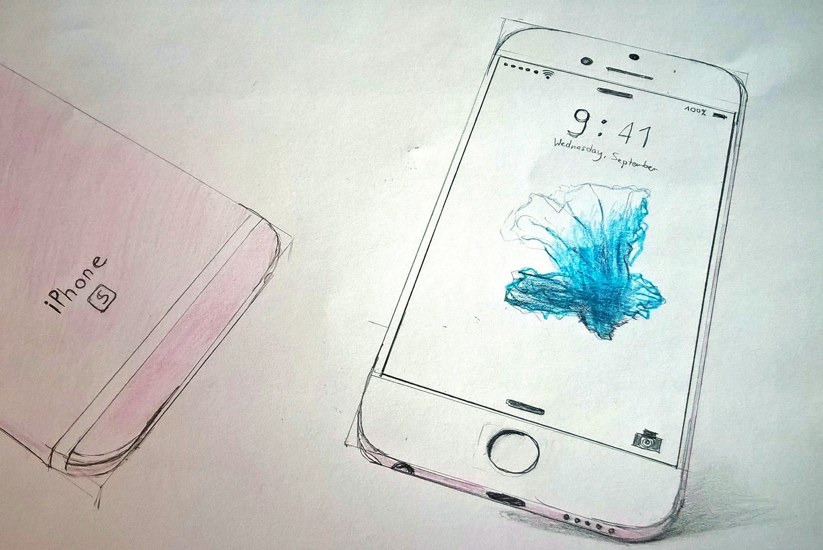2666x1783 Iphone 6s Drawing