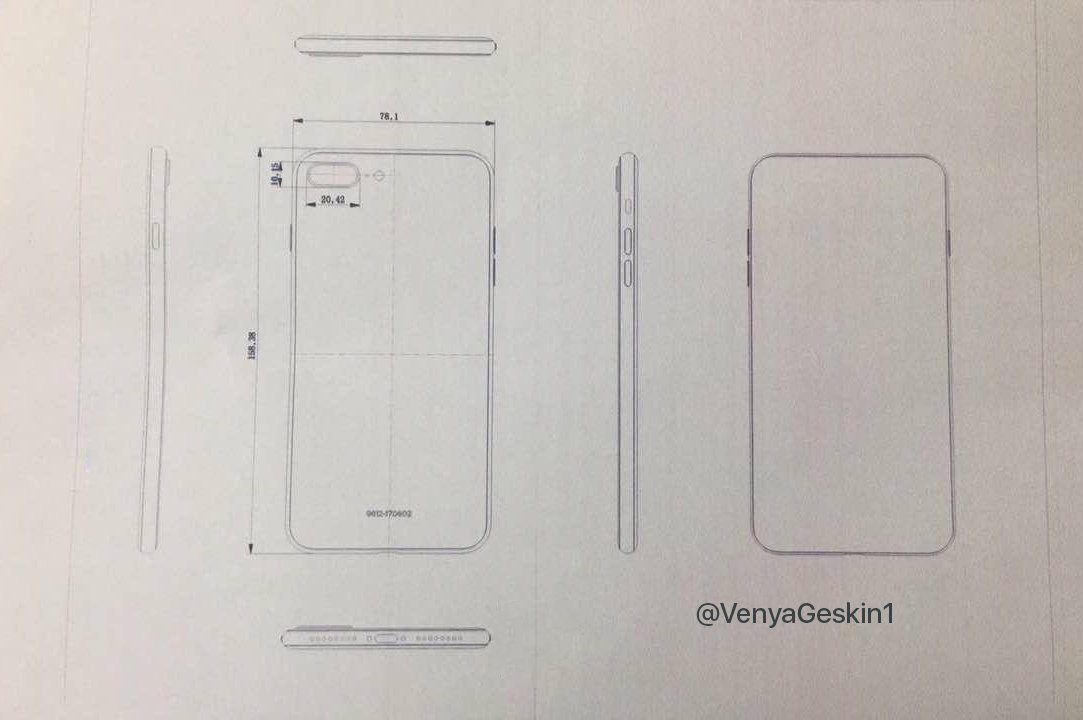 1083x720 Iphone 8 Enters Mass Production Drawings Confirm New Design