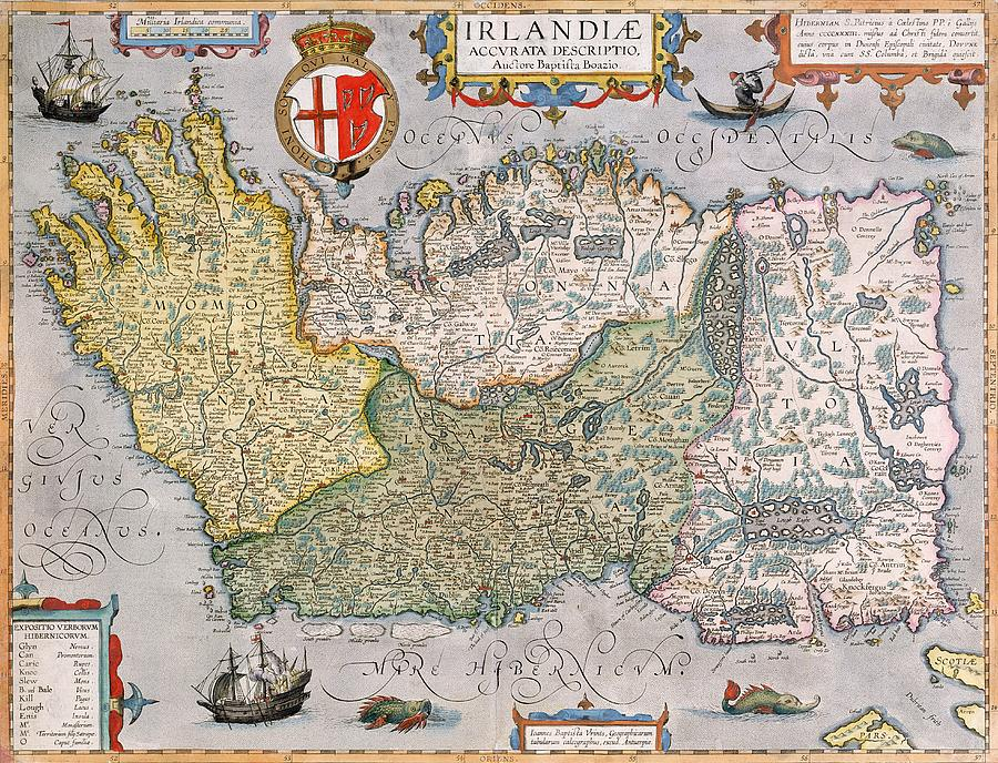 Ireland map drawing at getdrawings free for personal use 900x688 antique map of ireland drawing by english school gumiabroncs Image collections