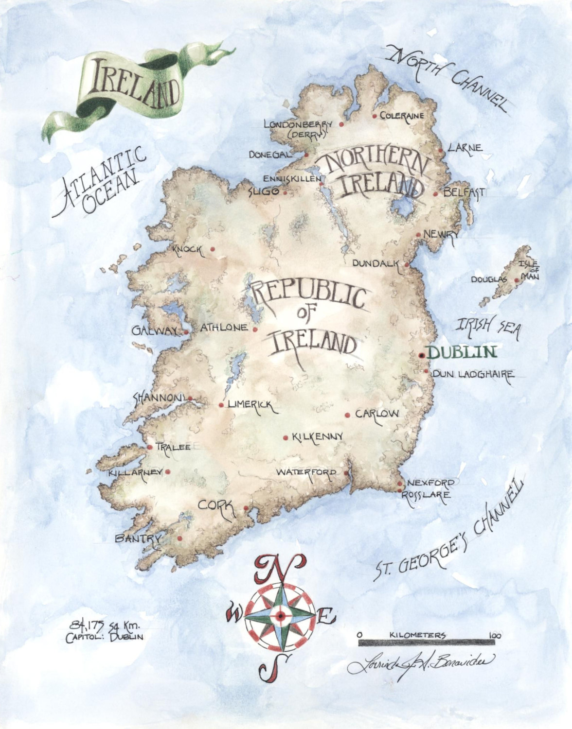 picture relating to Printable Maps of Ireland known as Eire Map Drawing at  Free of charge for person