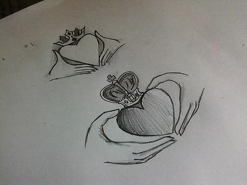 500x375 Irish Claddagh I Was Drawing Drew An Irish Claddagh So