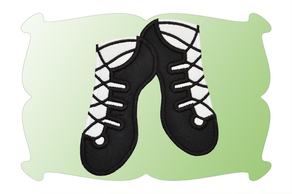 1024x680 Irish Dance Shoes Applique