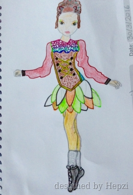 260x380 Irish Dancing Dress Design Drawn By Hepzi Topmodel