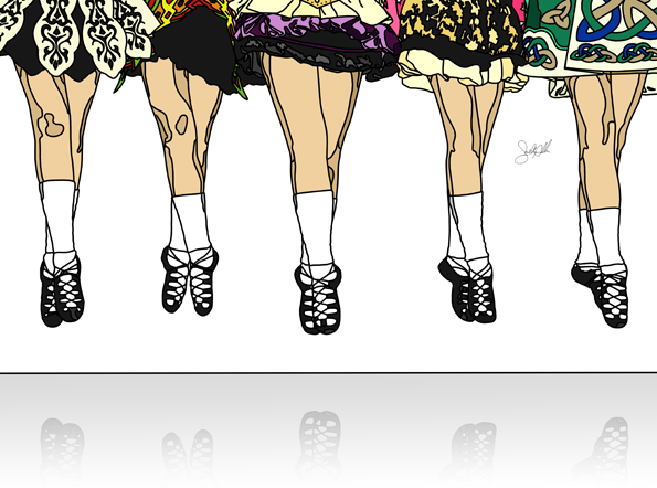 595x442 Shelly Allen Graphic Art Print Irish Dance Jump