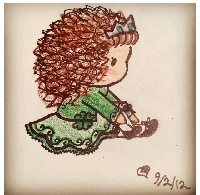 640x622 Chibi Irish Dancer
