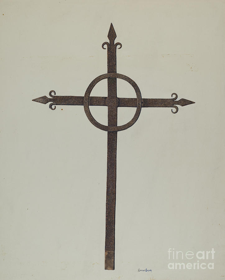 724x900 Cross Drawing By H. Langden Brown