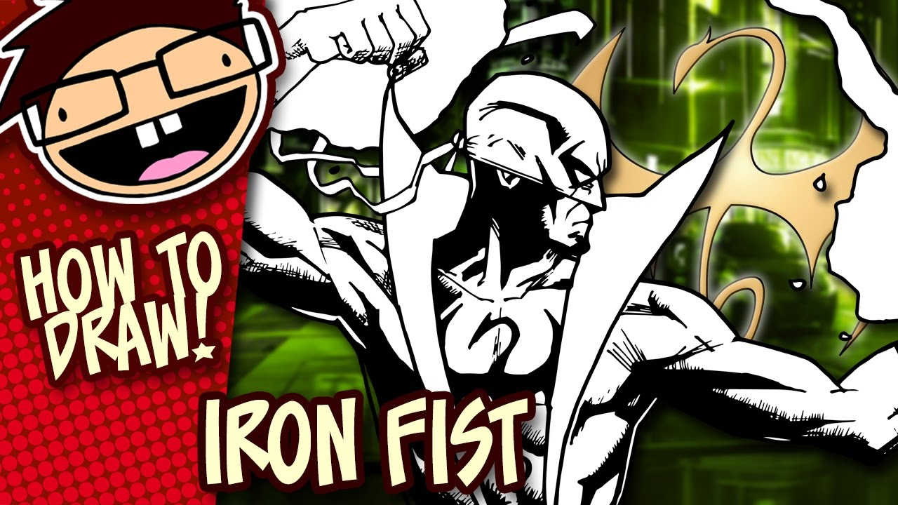 1280x720 How To Draw Iron Fist (Comic Version) Narrated Easy Step By Step