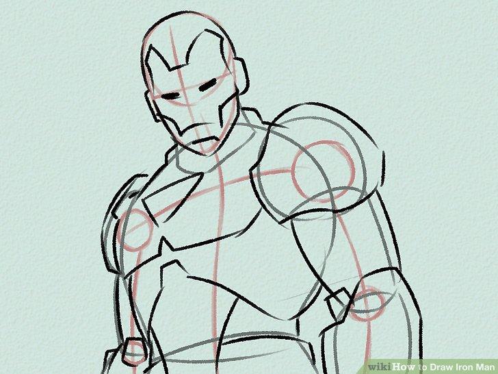 728x546 4 Ways To Draw Iron Man