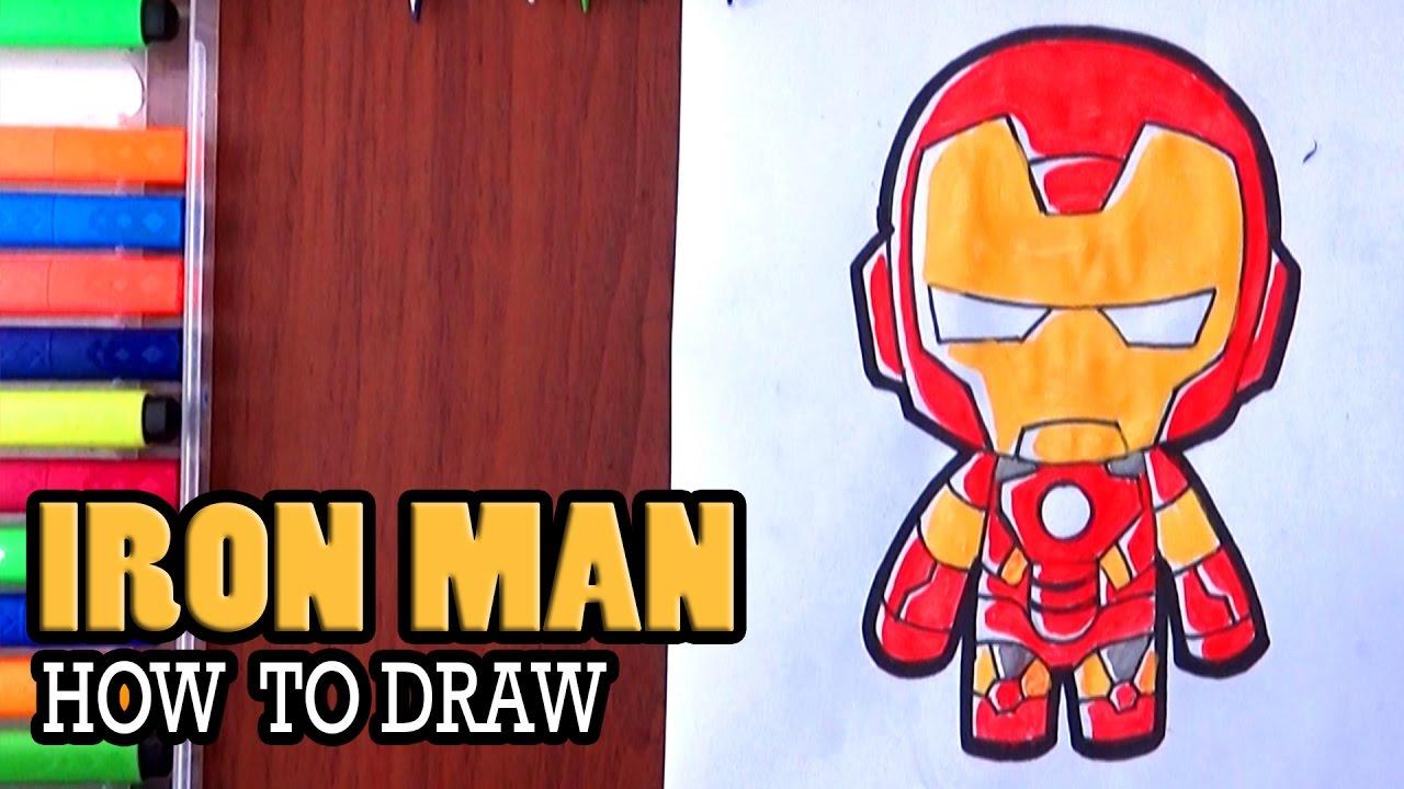 1280x720 How To Draw Iron Man Cute Drawing Superhero Cartoon Drawing
