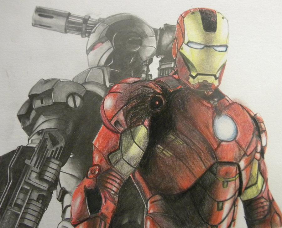 Iron Man 2 Drawing at GetDrawings | Free download