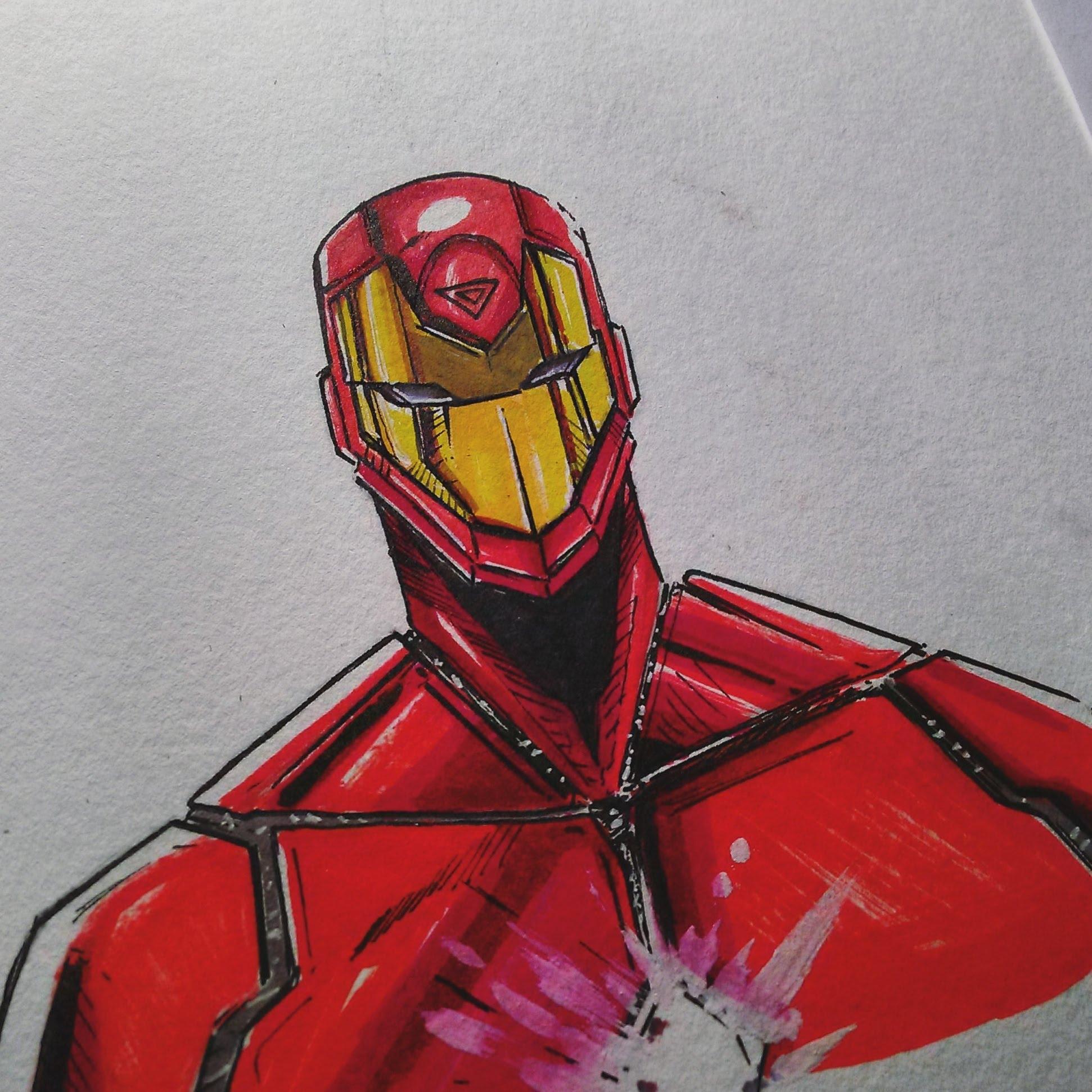 1942x1942 Iron Man Marvel Civil War 2 Drawing