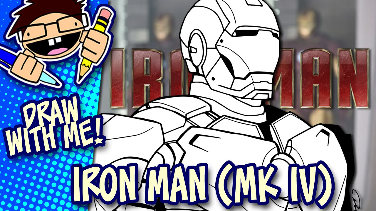 1280x720 Let's Draw Iron Man Mark Iv (Iron Man 2) Drawing Guide