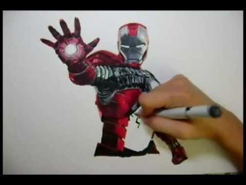 480x360 The Avengers Iron Man Drawing