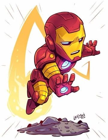 360x465 Caricaturas De Iron Man 2 Super Heroes Marvel