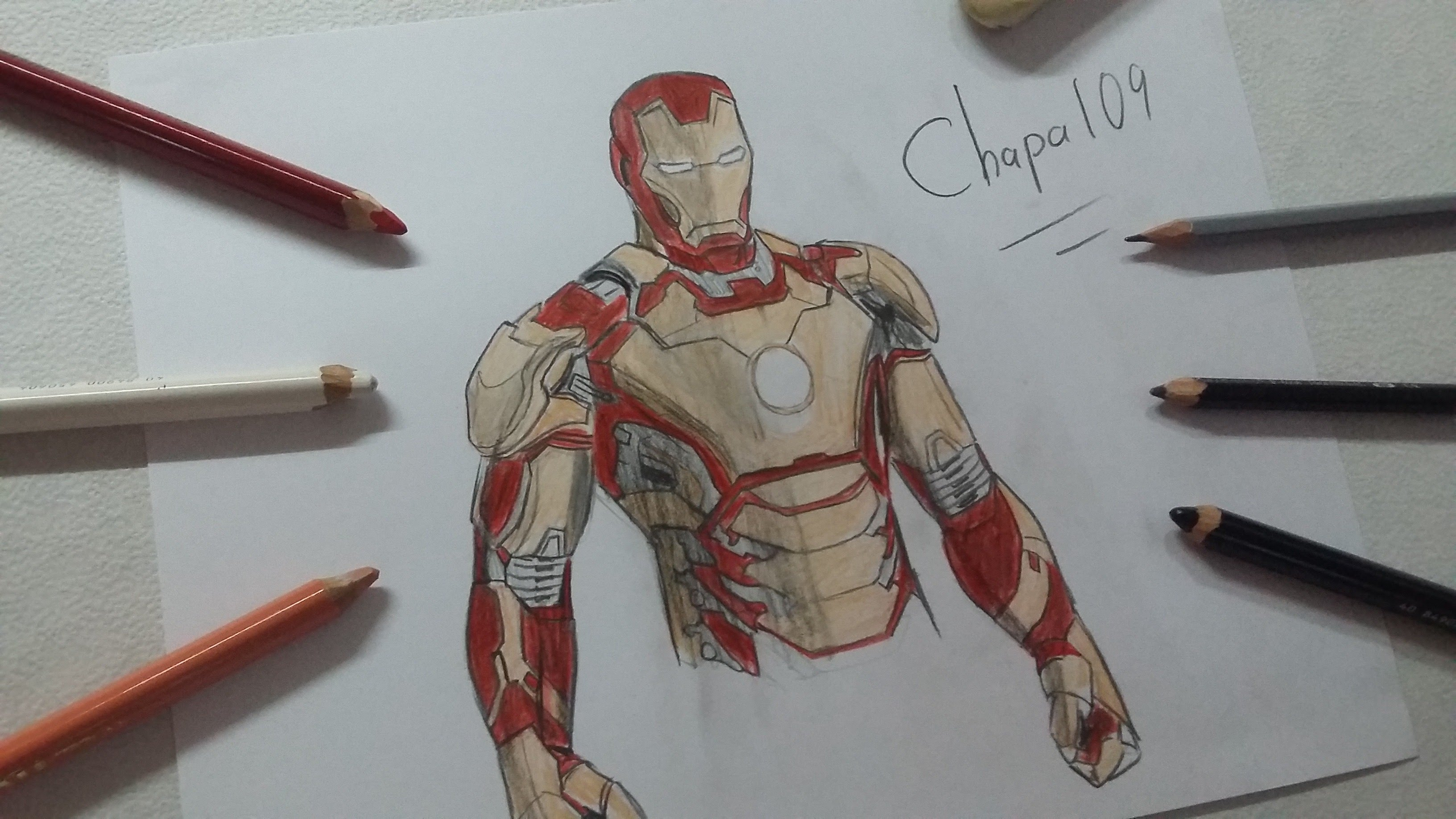3264x1836 Dibujo De Iron Man (Mark 42) Iron Man 3 Drawing Iron Man (Mark42