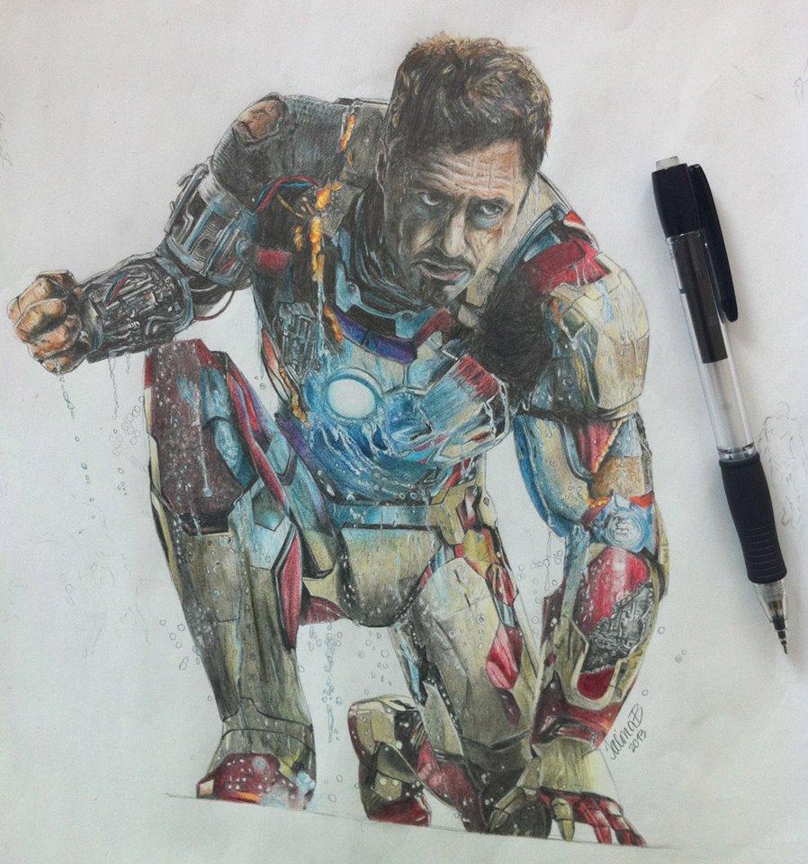 898x960 Iron Man, Tony Stark, Rdj Art Iron Man Tony Stark