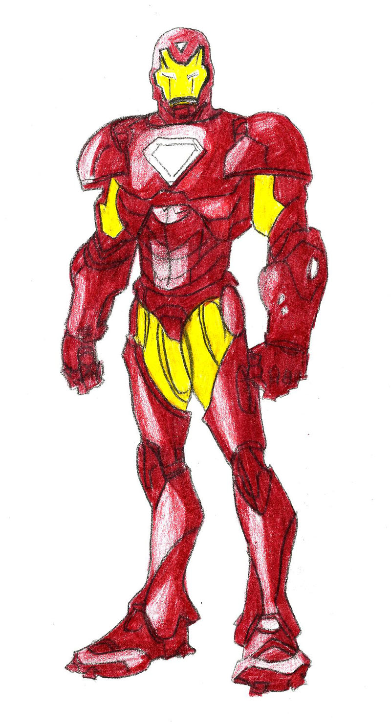 800x1488 4 Ways To Draw Iron Man