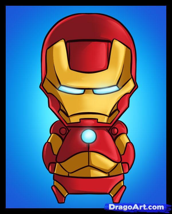 600x745 How To Draw Chibi Iron Man Chibi Chibi, Iron