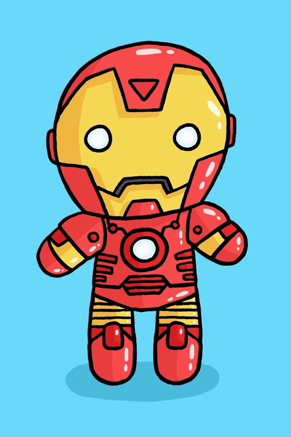 600x900 Iron Man Cartoon Drawing