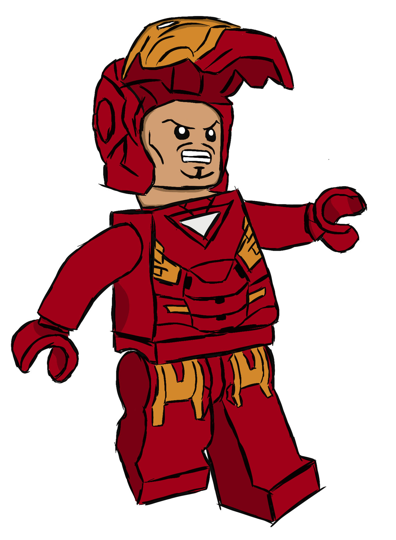 1280x1745 Lego Iron Man Cartoon Lego Iron Man Digital Drawing By