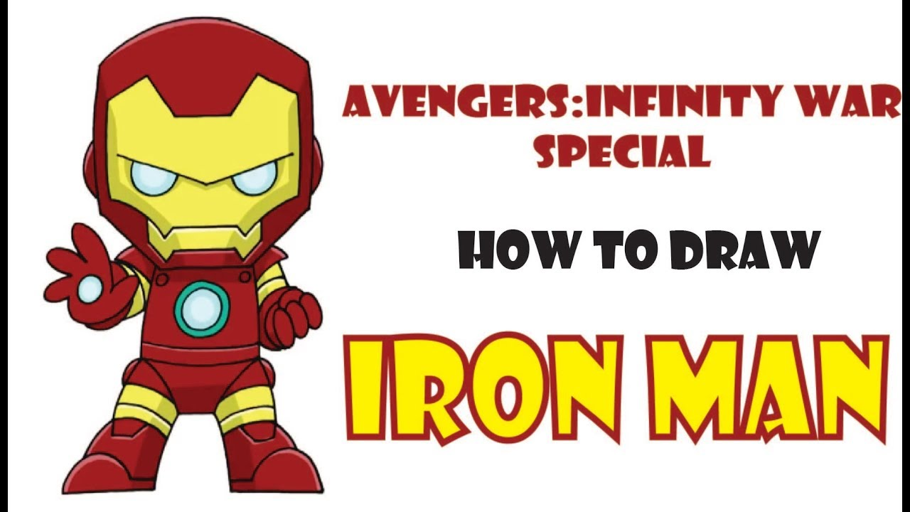 how to draw iron man easy