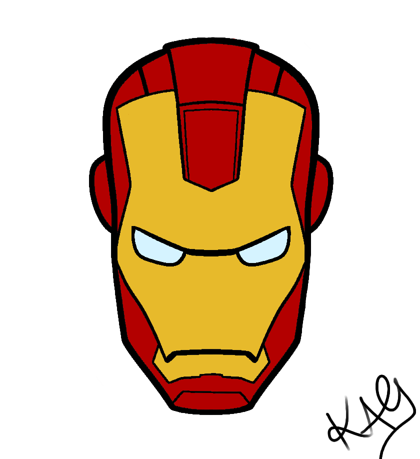 Iron man helmet drawing at free for for Iron man face coloring pages