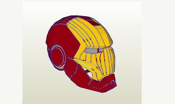 570x338 Iron Man Helmet Diy 11 Full Scale Life Size Printable Paper