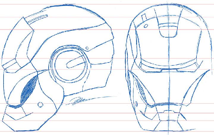 Papercraft Ironman Helmet Pdf