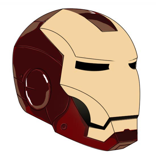 550x550 Paint An Iron Man's Helmet Digitally In Photoshop 10steps.sg