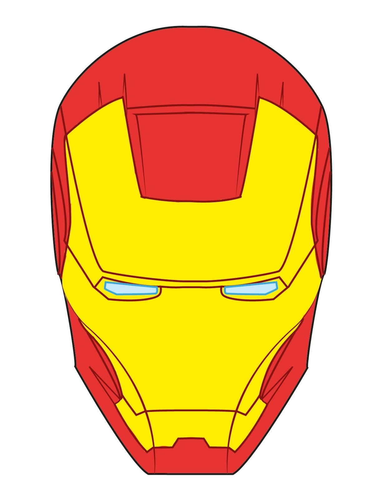 1237x1600 Iron Man Mask Fondant