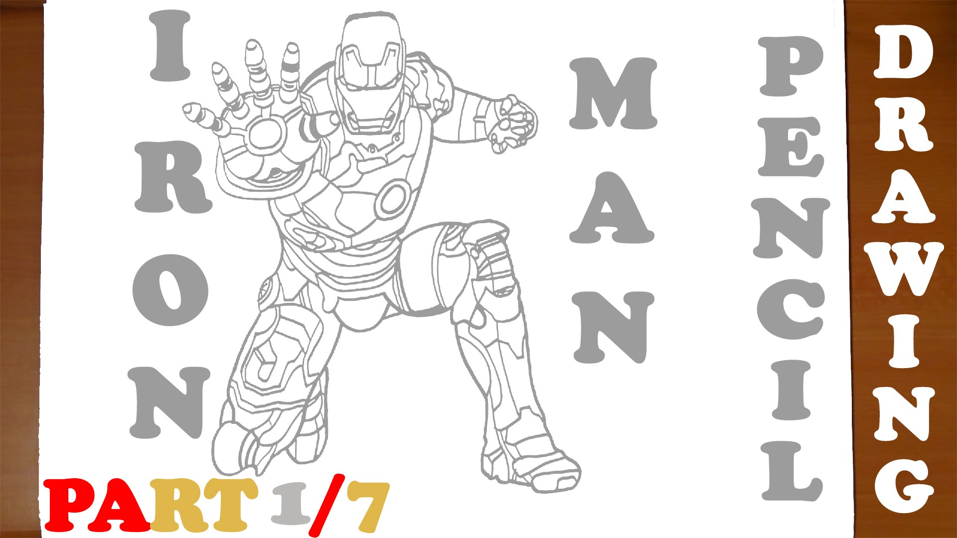 1920x1080 Easy Superhero Drawings In Pencil Ironman How To Draw Iron Man