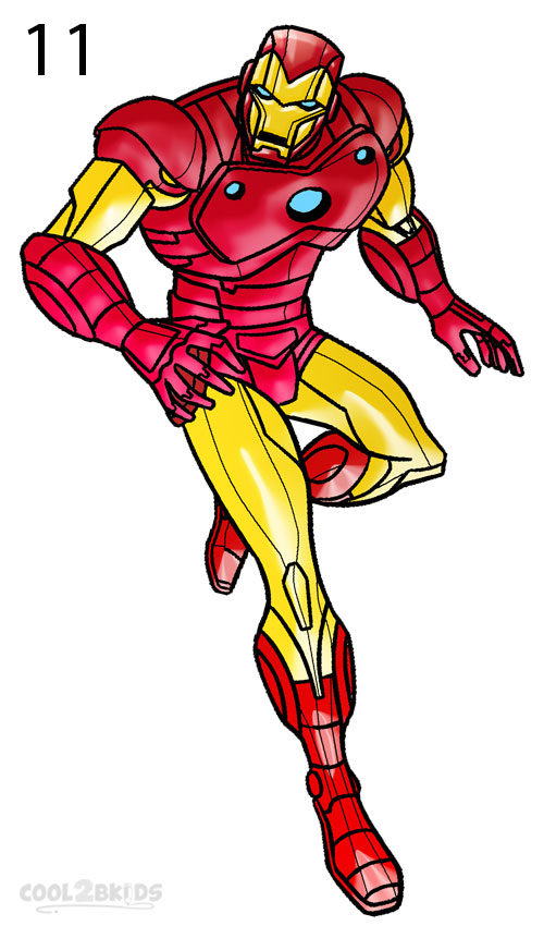 500x850 How To Draw Iron Man (Step By Step Pictures) Cool2bkids