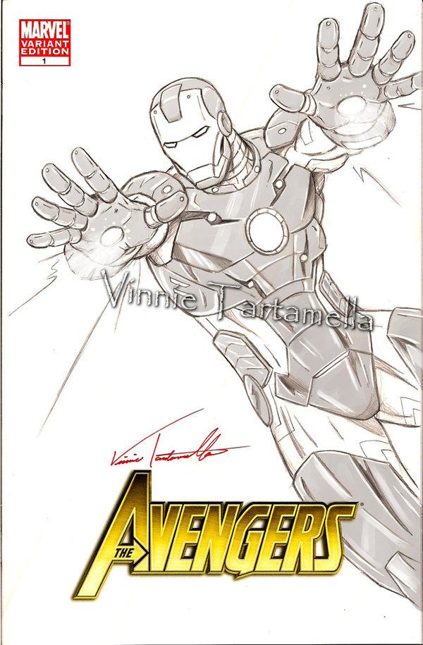 600x915 Ironman Drawing By Vinroc