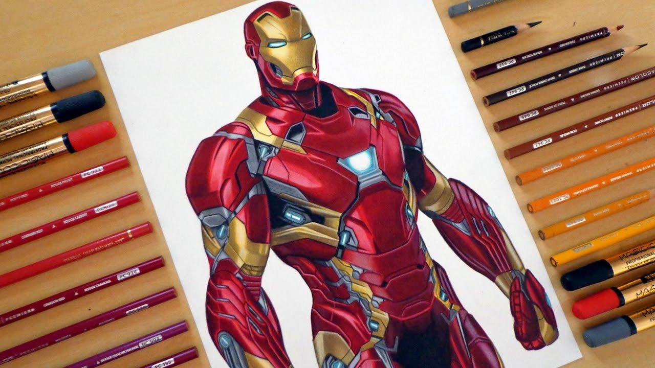 1280x720 Speed Drawing Iron Man