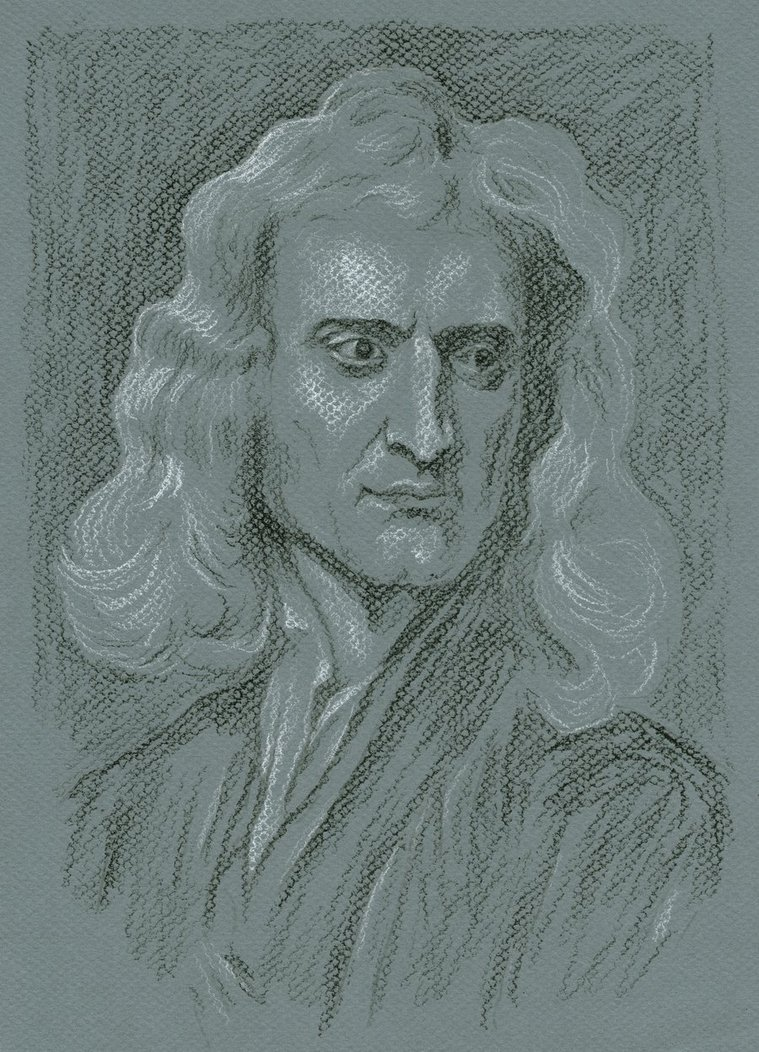 759x1052 Sir Isaac Newton By Delph Ambi