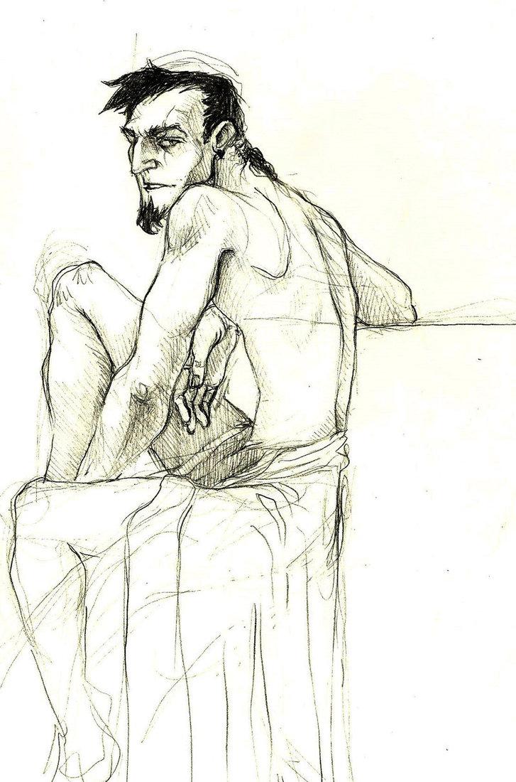 727x1100 Human Scar Sketch By Chrisisdaname