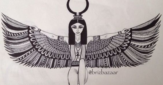 564x296 Image Result For Egyptian Goddess Isis Drawing Lil Tats