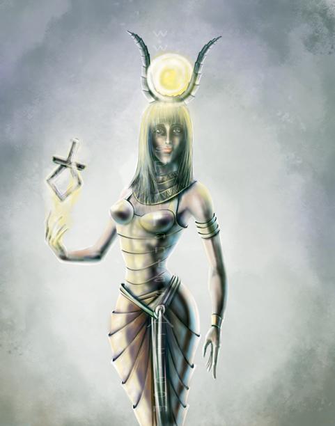 481x612 Isis Goddess Art Illustration Drawing By Yarkspiri