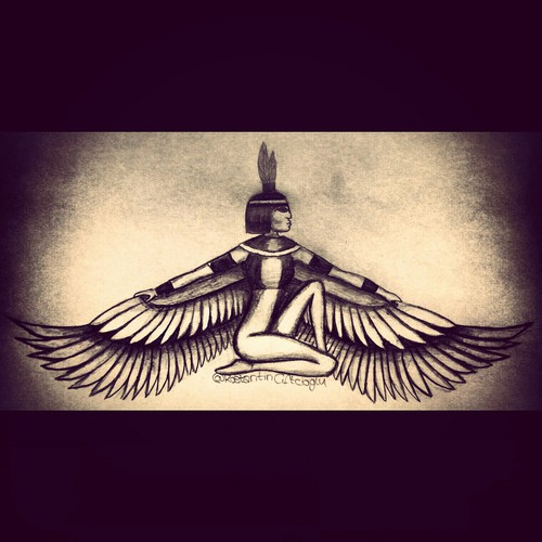 500x500 My Drawing Of Goddess Isis On We Heart It