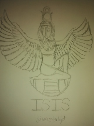320x427 Isis Drawings On Paigeeworld. Pictures Of Isis
