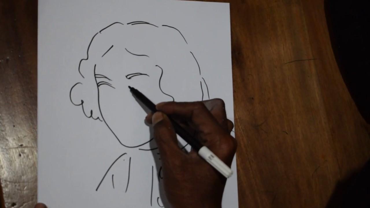 1280x720 How To Draw Kobi Kazi Nazrul Islam