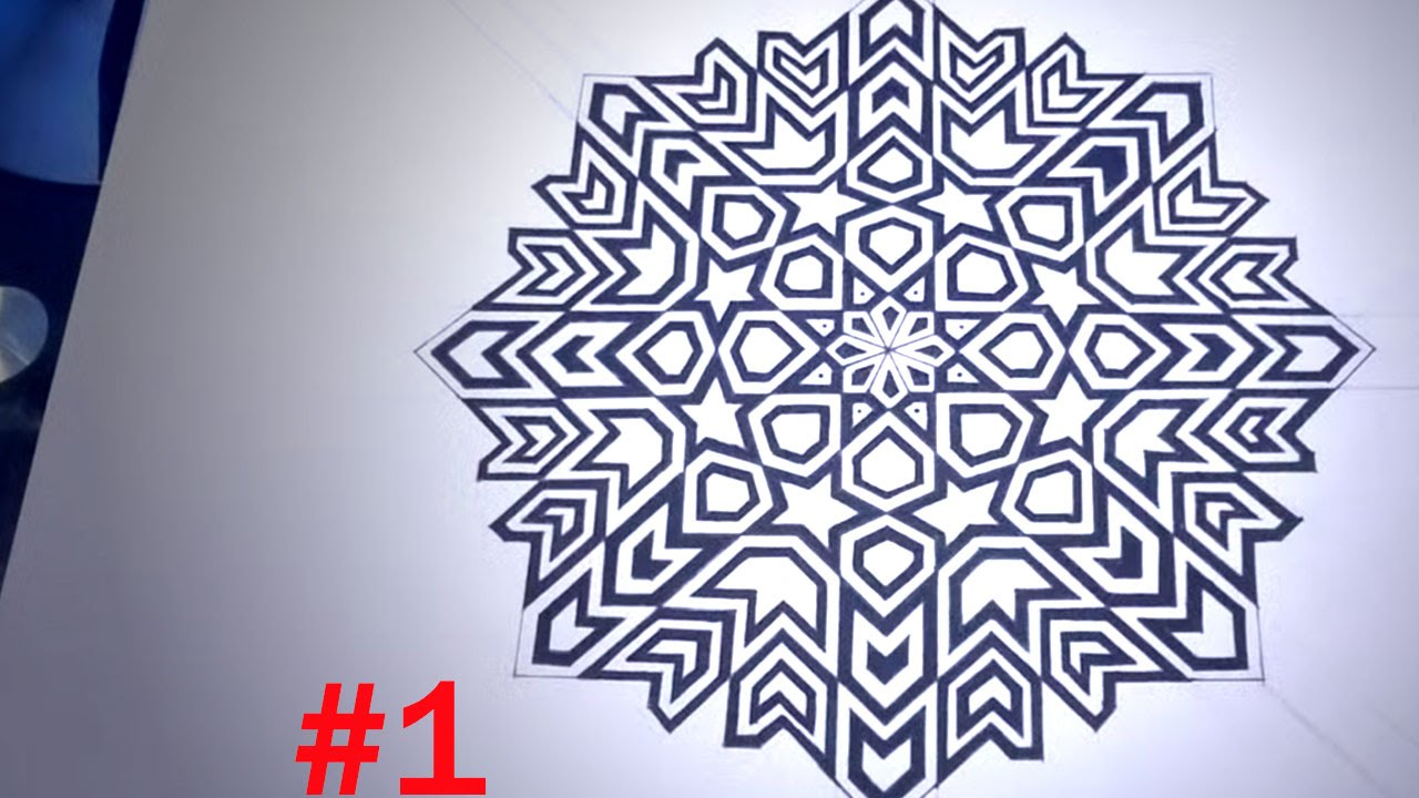 1280x720 How To Draw Islamic Geometric Patterns